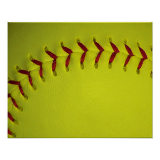 Dayglo Yellow Softball Posters