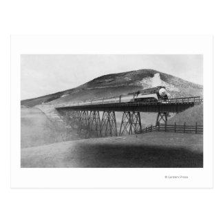 Daylight Limited Railroad over Tressel Postcard