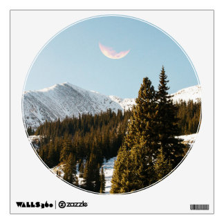 Daylight Moon Wall Decal