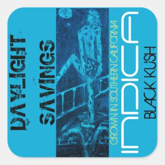 DAYLIGHT SAVINGS INDICA SQUARE STICKER