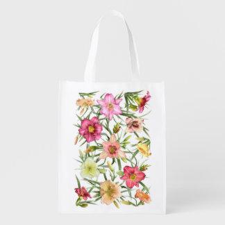 Daylilies All Over Reusable Grocery Bag