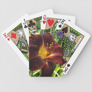 """DAYLILY """"Dominic"""" Dark Wine. Bicycle Playing Cards"""