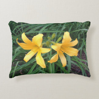"DAYLILY ""Downey"" Gold Duo --- Decorative Pillow"