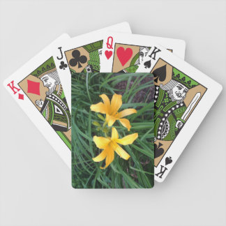 "DAYLILY ""Downey"" Gold Duo -- Poker Deck"