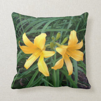 """DAYLILY """"Downey"""" Gold Duo -- Throw Pillow"""