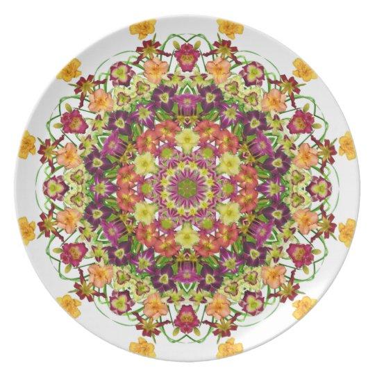 Daylily mandala plate