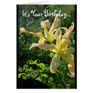 Daylily Whimsy Birthday Card