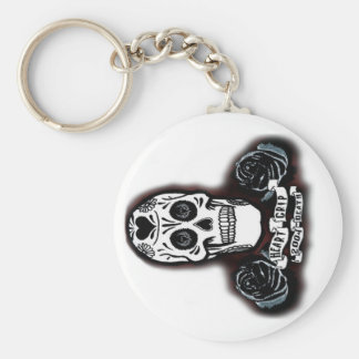 dayofthedeadkeychain basic round button keychain