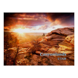 Days End Candlestick Tower Overlook Canyonlands NP Poster
