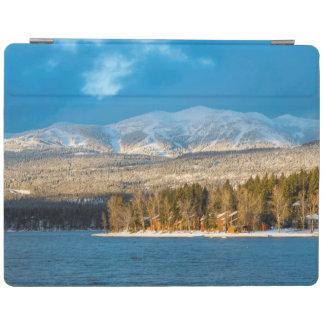 Days Last Light Shines On Ski Runs Of Whitefish iPad Cover