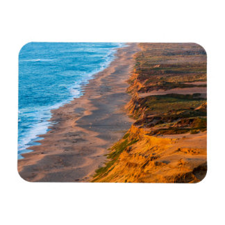 Days Last Light Strikes The Sandy Shore Of Point Rectangular Photo Magnet