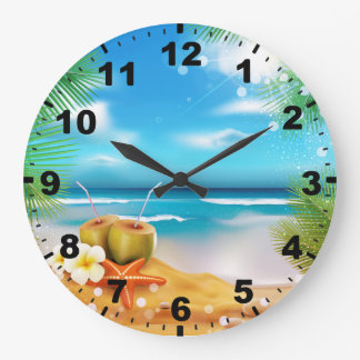 Days of Summer Round (Large) Wall Clock