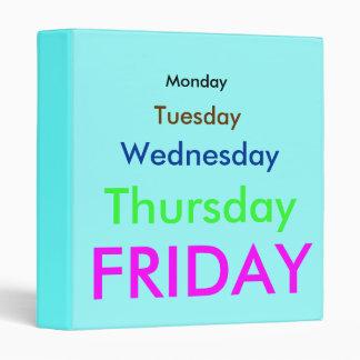 Days of the Week Binder