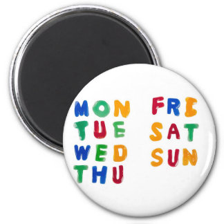 Days of the week magnet