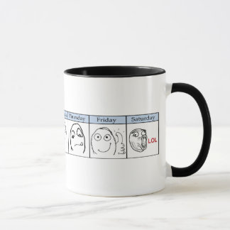 Days of the Week Memes Mug