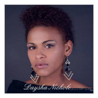 """Daysha Nichole, 20"""" x 20"""", Poster  (Semi-Gloss) Perfect Poster"""