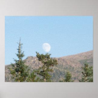 Daytime Moon Poster