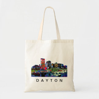 Dayton in graffiti tote bag