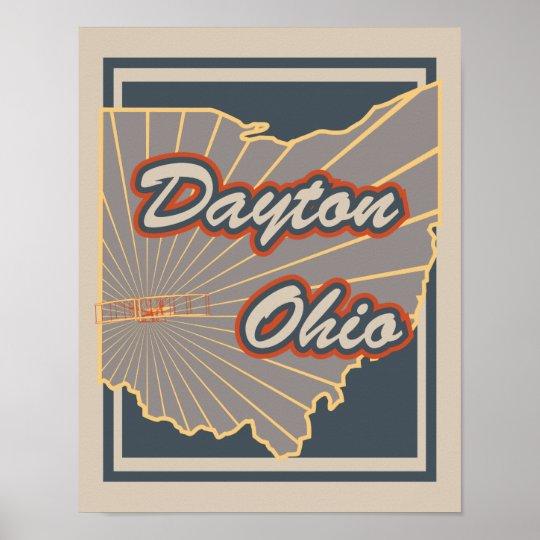 Dayton, Ohio Art Print - Travel Poster v2