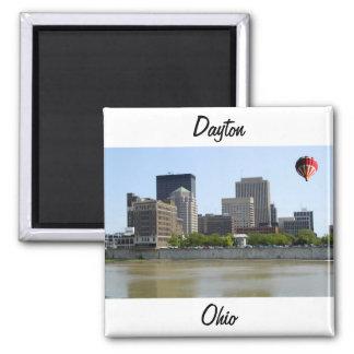 Dayton Ohio city skyline Square Magnet