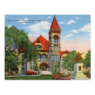Dayton, Ohio,  Public Library, c1940s Postcard
