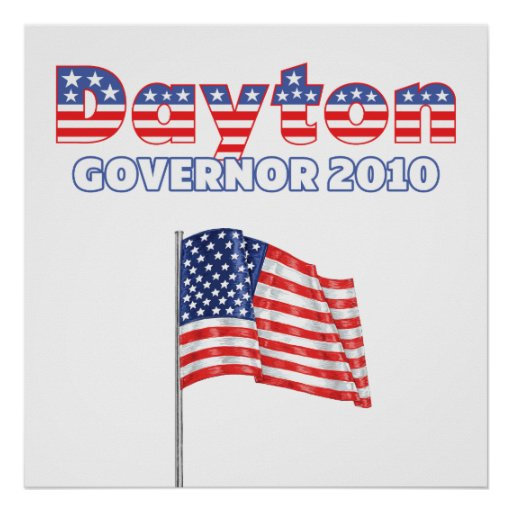 Dayton Patriotic American Flag 2010 Elections Print