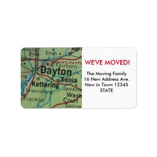 Dayton We've Moved label