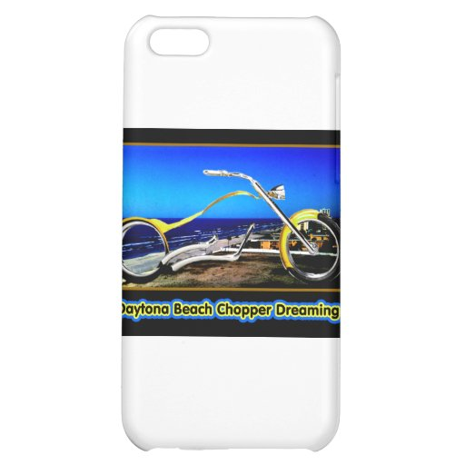 Daytona Beach Chopper Dreaming Yellow Gold Black T Cover For iPhone 5C