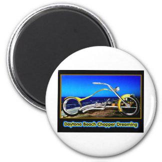Daytona Beach Chopper Dreaming Yellow Gold Black T Magnet