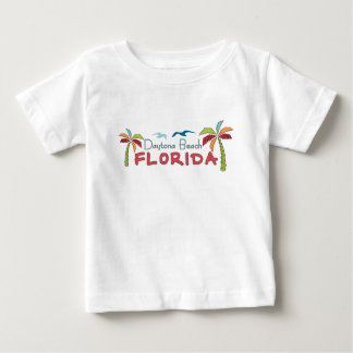 Daytona Beach Florida artsy palms Baby T-Shirt