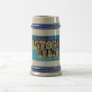 Daytona Beach Florida FL Vintage Travel Souvenir Beer Stein