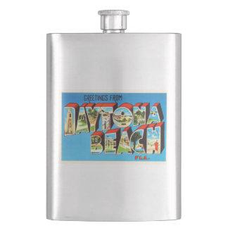 Daytona Beach Florida FL Vintage Travel Souvenir Flask