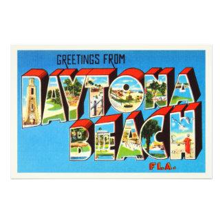Daytona Beach Florida FL Vintage Travel Souvenir Photographic Print