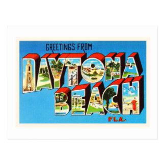 Daytona Beach Florida FL Vintage Travel Souvenir Postcard