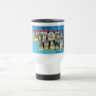 Daytona Beach Florida FL Vintage Travel Souvenir Travel Mug