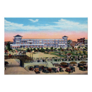 Daytona Beach Florida Seaside Hotel and Boardwalk Poster