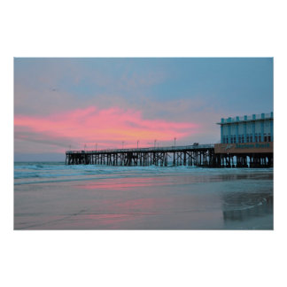 Daytona Beach Main Street Pier Sunrise Poster