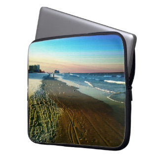 Daytona Beach Shoreline and Boardwalk Laptop Sleeve