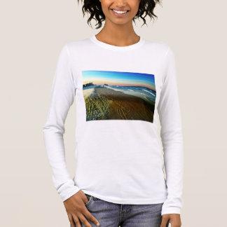 Daytona Beach Shoreline and Boardwalk Long Sleeve T-Shirt