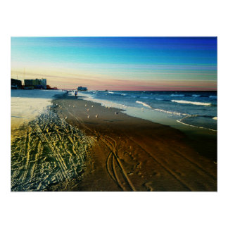 Daytona Beach Shoreline and Boardwalk Poster