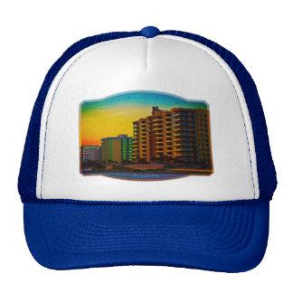 Daytona Beach Shores Coastal Resorts Framed Art Trucker Hat