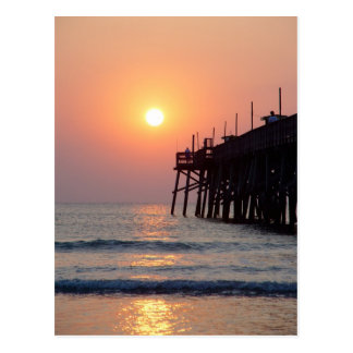 Daytona Beach Sunglow Pier Sunrise Postcard