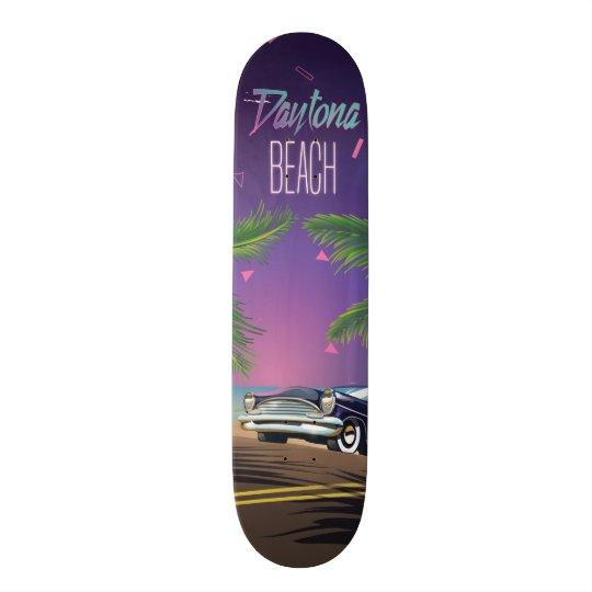 Daytona Beach Vintage Car Travel poster Skate Deck