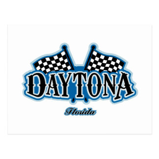 Daytona Flagged Postcard