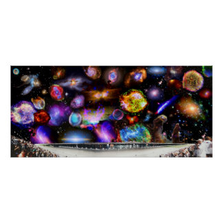 Daytona Speedway with Chandra Telescope Sky Poster