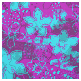 Daytrip Retro Psychedelic Floral Fabric