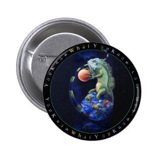 Daze of the Iguana 2 Inch Round Button