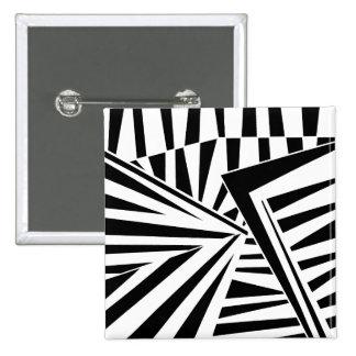 dazzle camouflage (black) 2 inch square button