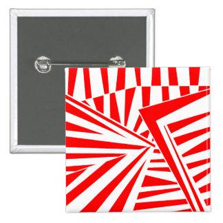 dazzle camouflage (red) 2 inch square button