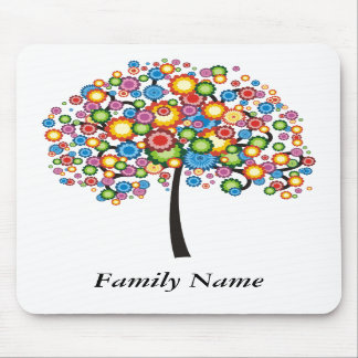 Dazzle Family Tree - Customize Mouse Pad